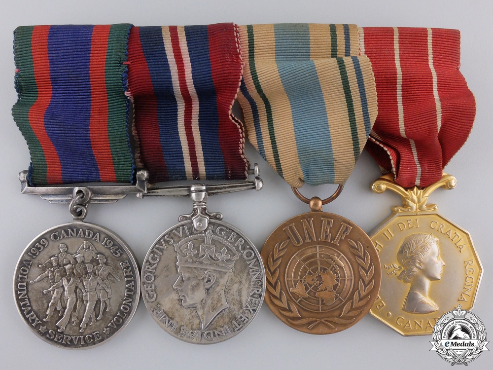 eMedals-A Second War and United Nations Canadian Medal Group