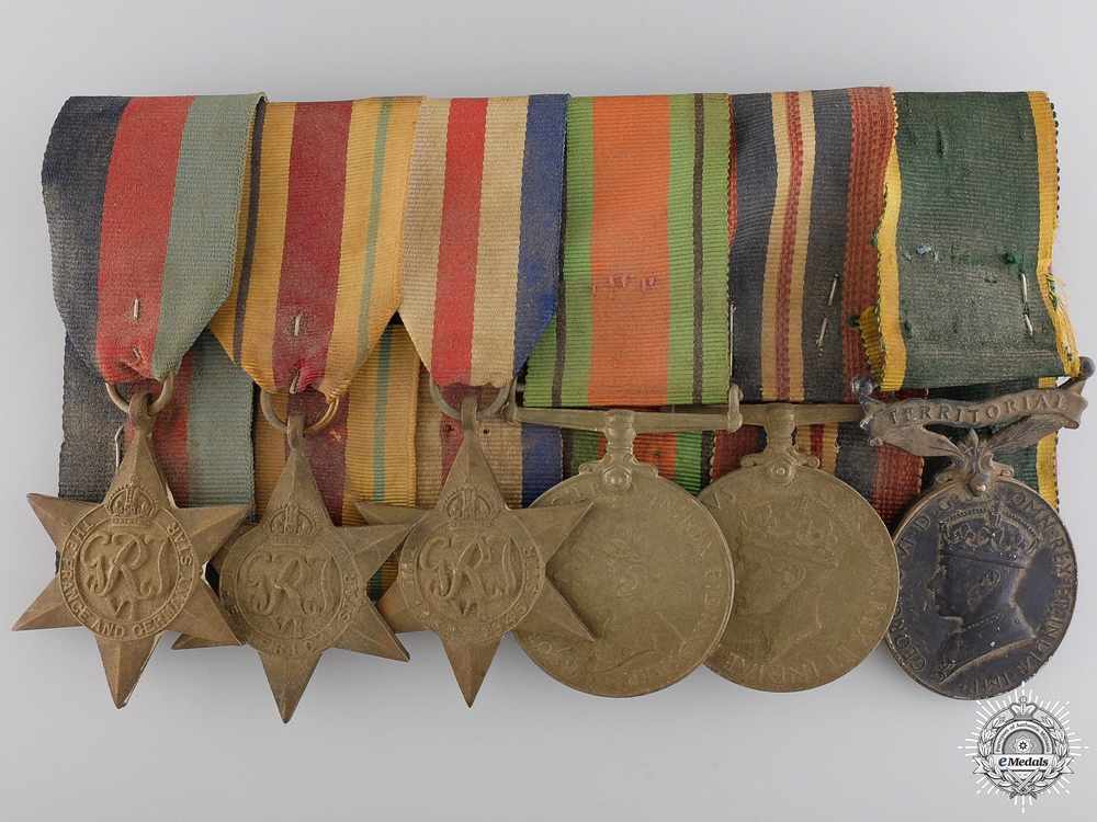eMedals-A Second War British Group to Sergeant T. Wolfendale; ACC