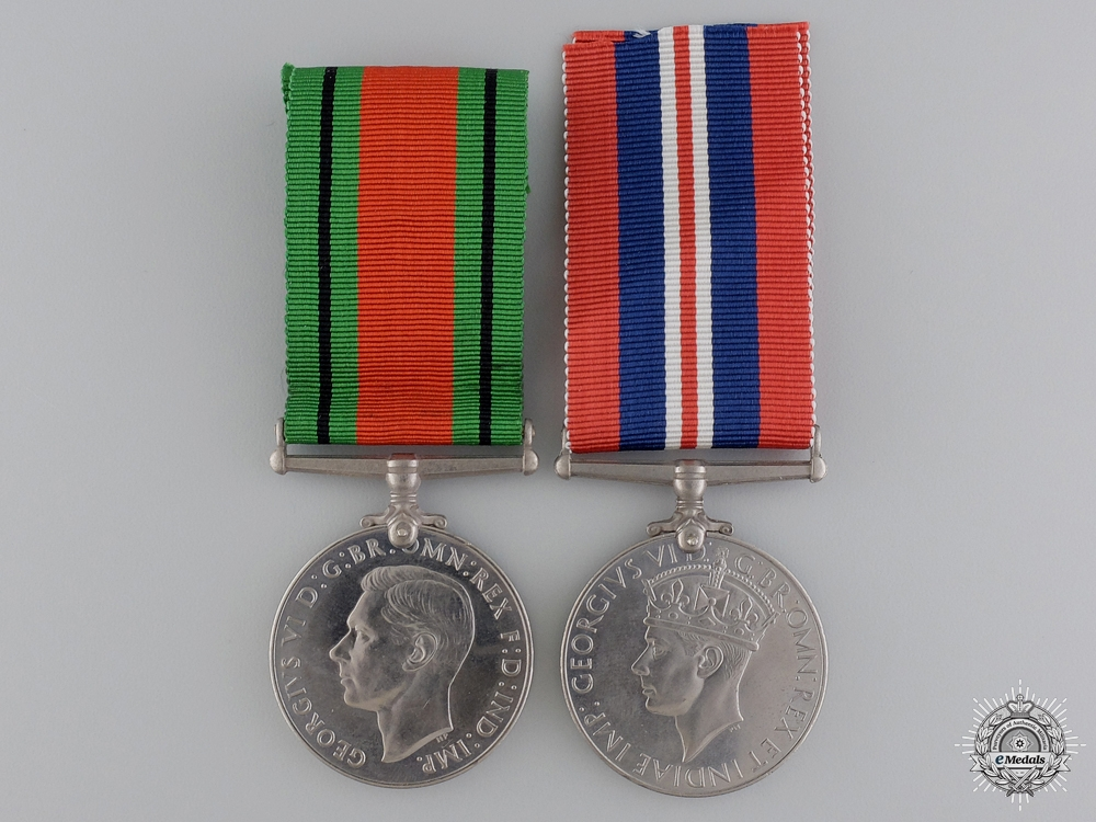 eMedals-A Second War British Issued Medal Pairing