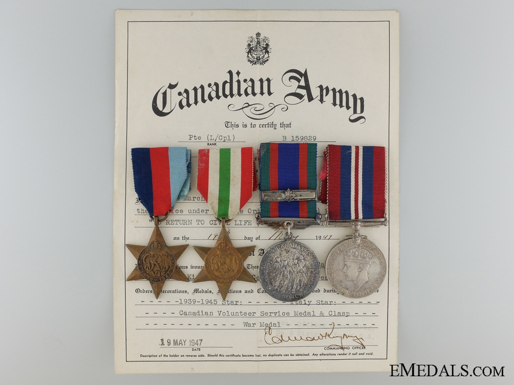 eMedals-A Second War Canadian Group to the Toronto Scottish Regiment