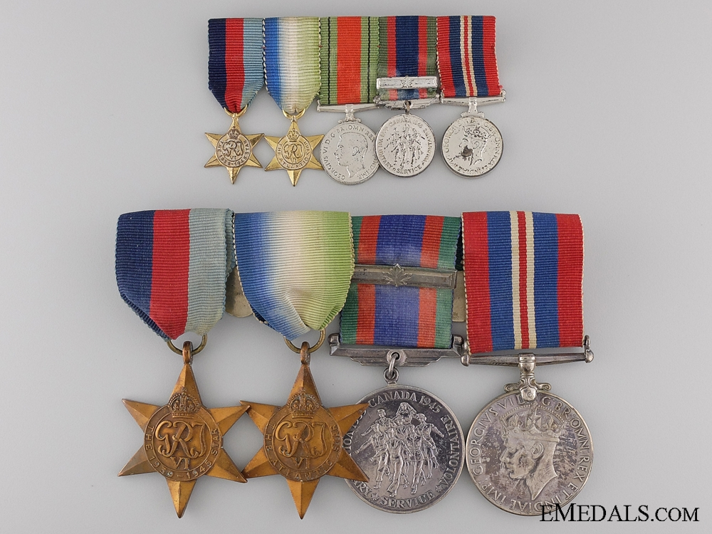 eMedals-A Second War Canadian Naval Medal Group with Miniatures