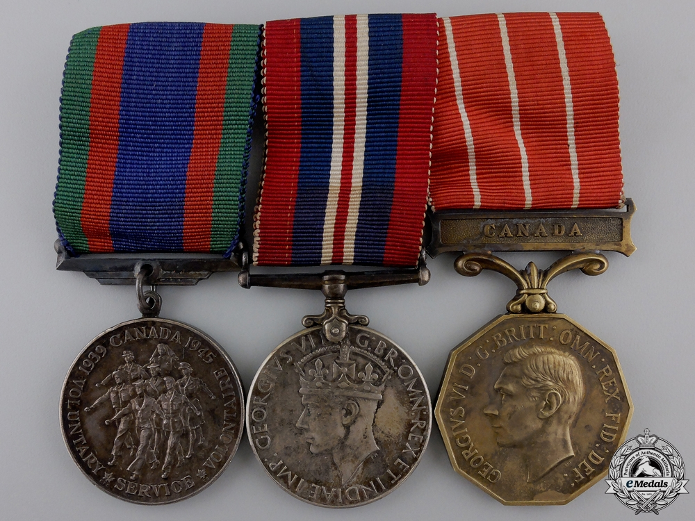 eMedals-A Second War Canadian Forces Decoration Group