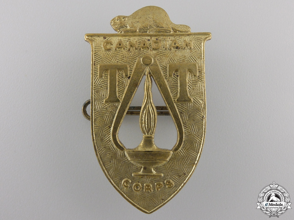 eMedals-A Second War Canadian Technical Training Corps Cap Badge