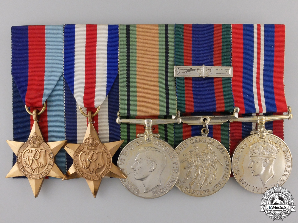 eMedals-A Second War Canadian Group of Five Medals