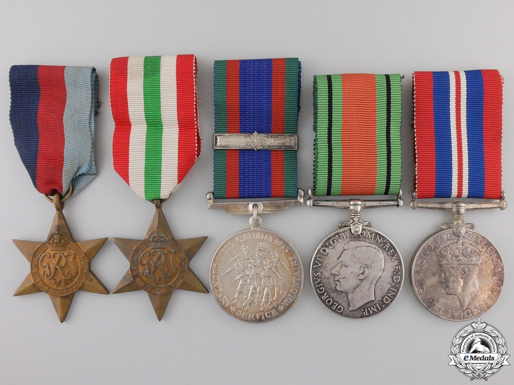 eMedals-A Second War Canadian Group of Five Awards