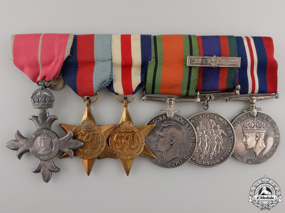 eMedals-A Second War Canadian Order of the British Empire Group