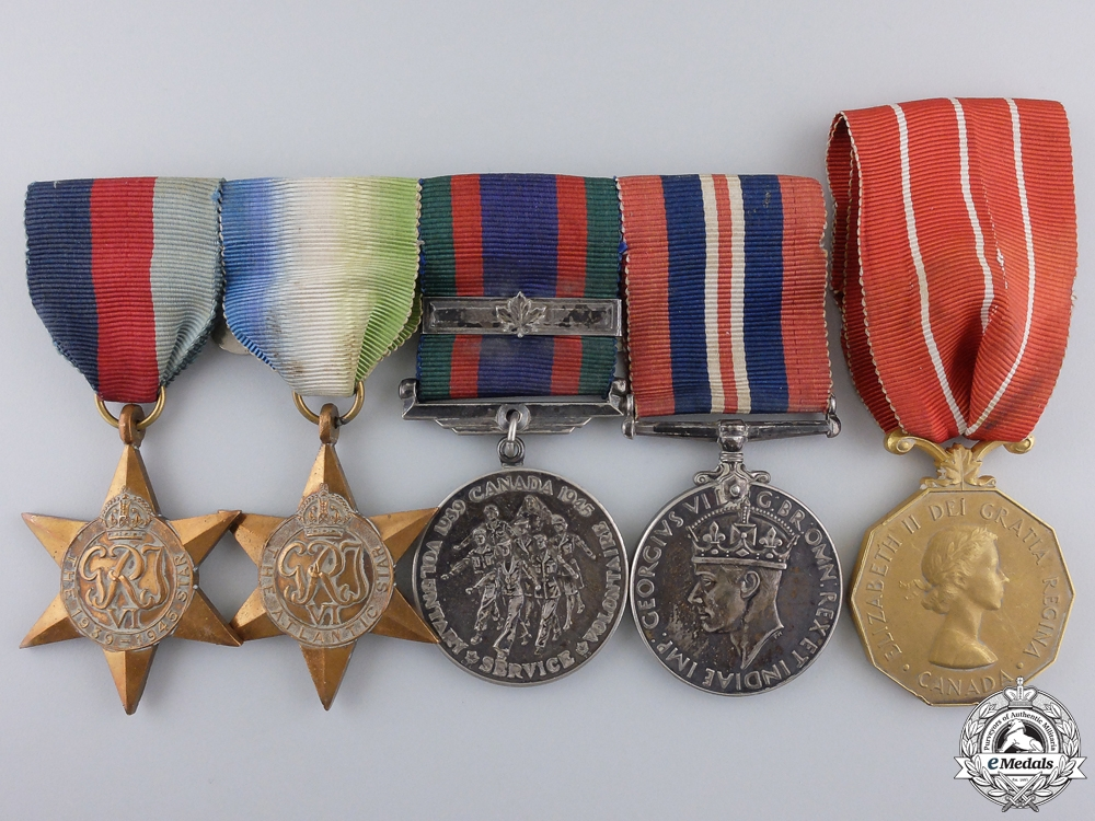 eMedals-A Second War Canadian Naval Group with Canadian Forces Decoration