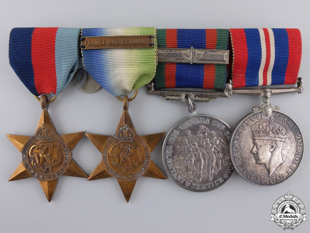 eMedals-A Second War Canadian Naval Group with France and Germany Clasp