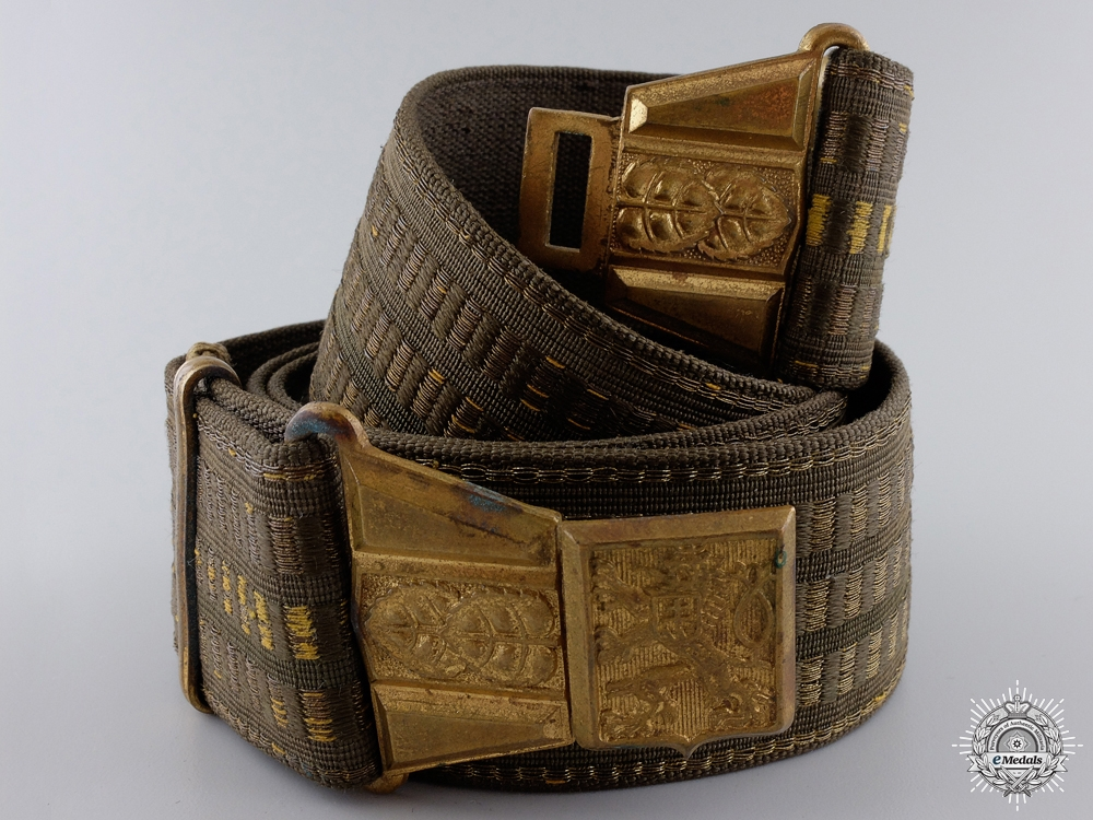 eMedals-A Second War Czechoslovakian Officer's Belt with Buckle