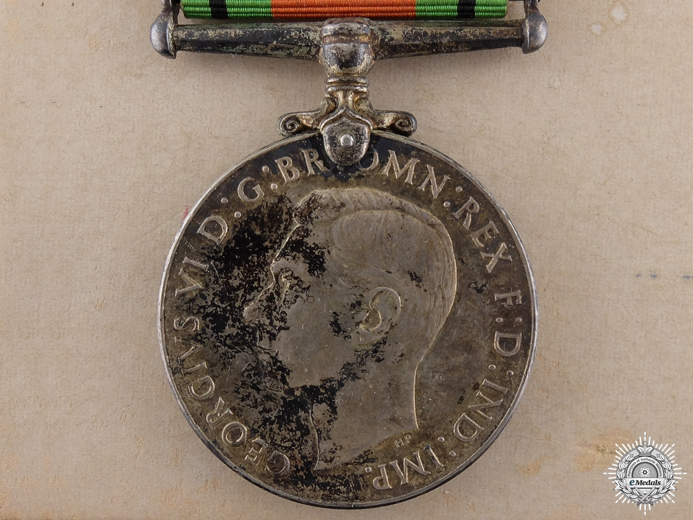 eMedals-A Second War Defence Medal; Canadian Silver Issue with Box