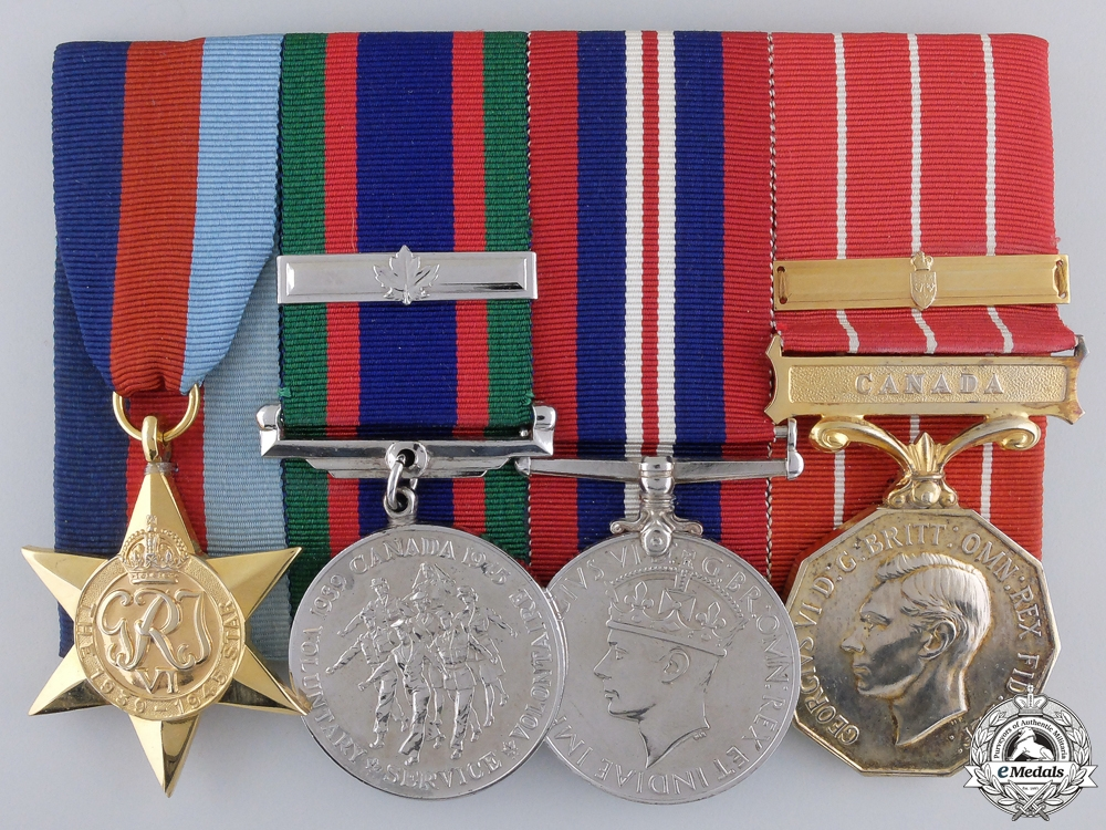 eMedals-A Second War Force Decoration Medal Bar to the Royal Canadian Air Force