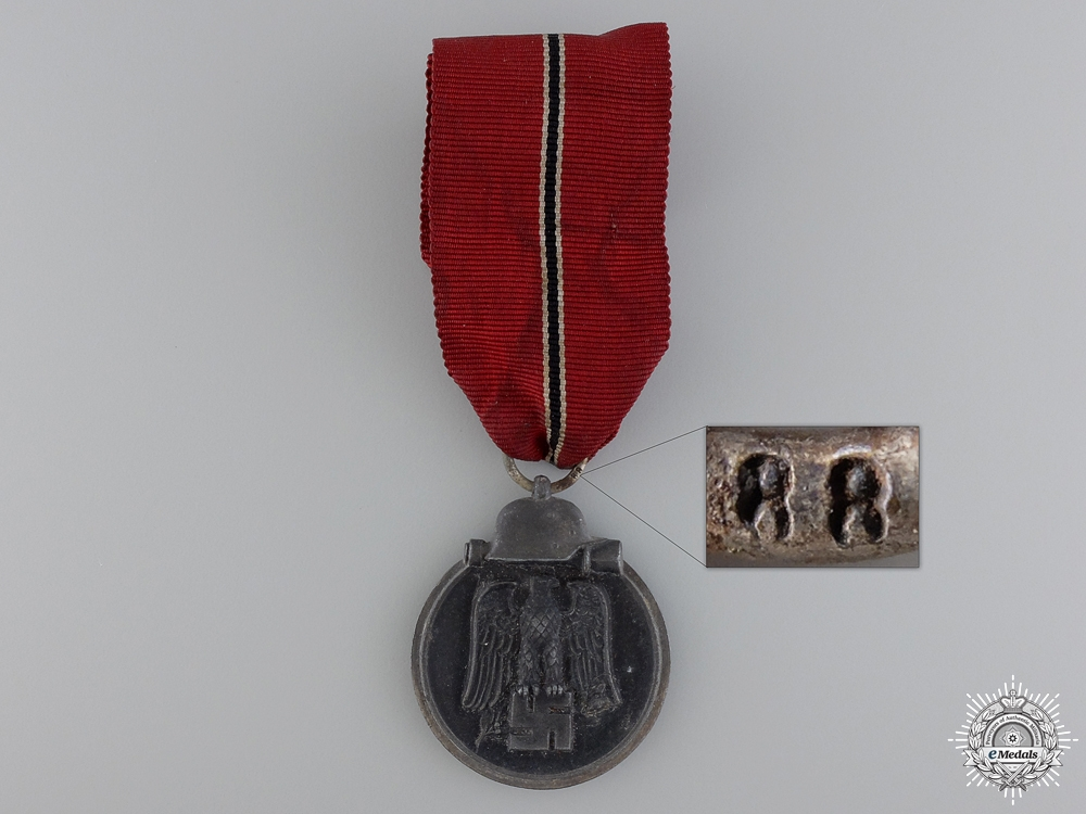 eMedals-A Second War German 1941/42 East Medal; Marked