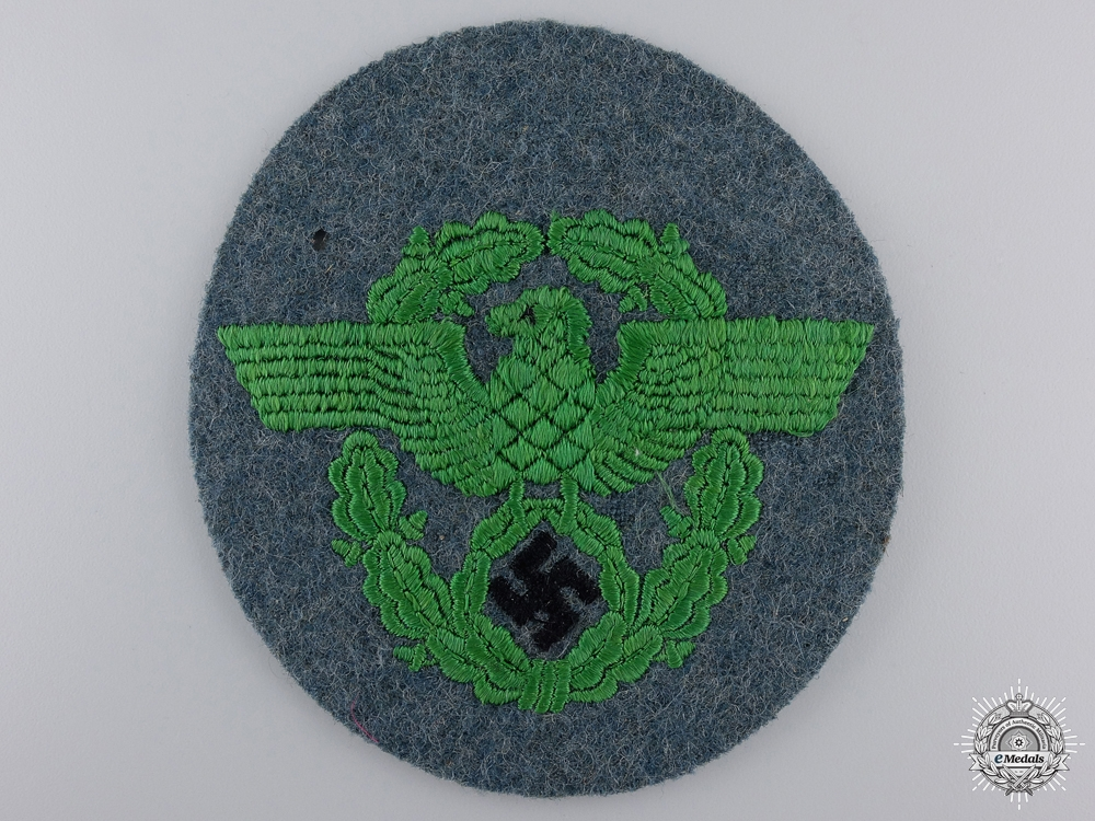 eMedals-A Second War German Police Sleeve Badge
