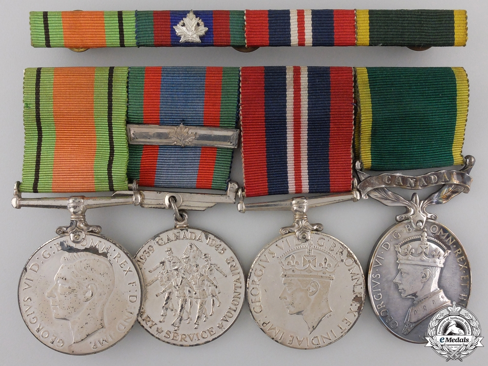 eMedals-A Second War Group of Four to the Royal Canadian Army Service Corps  Con #41