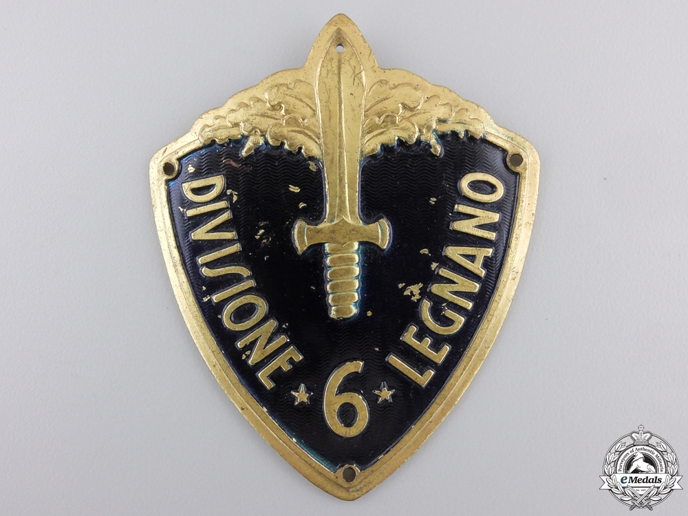 eMedals-A Second War Italian Army Arm Badge; Divisione 6