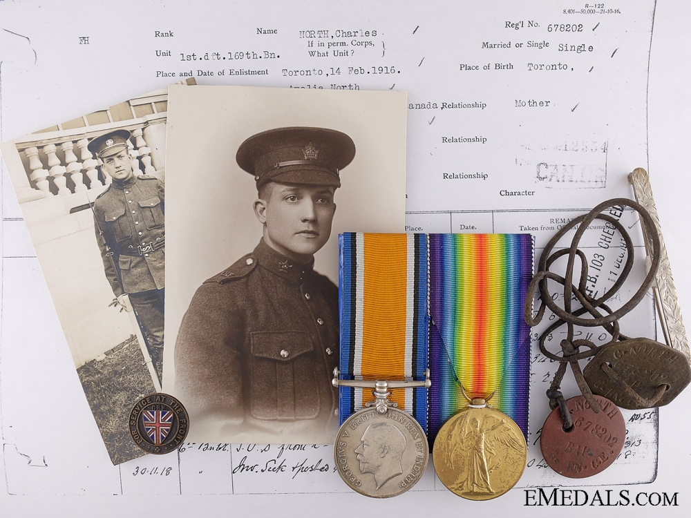 eMedals-A Second War Medal Pair to the 169th Canadian Infantry Battalion