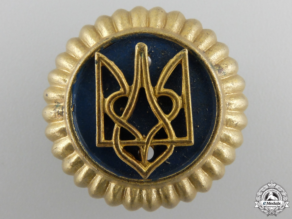 eMedals-A Second War Ukrainian Auxiliary Police Cap Badge
