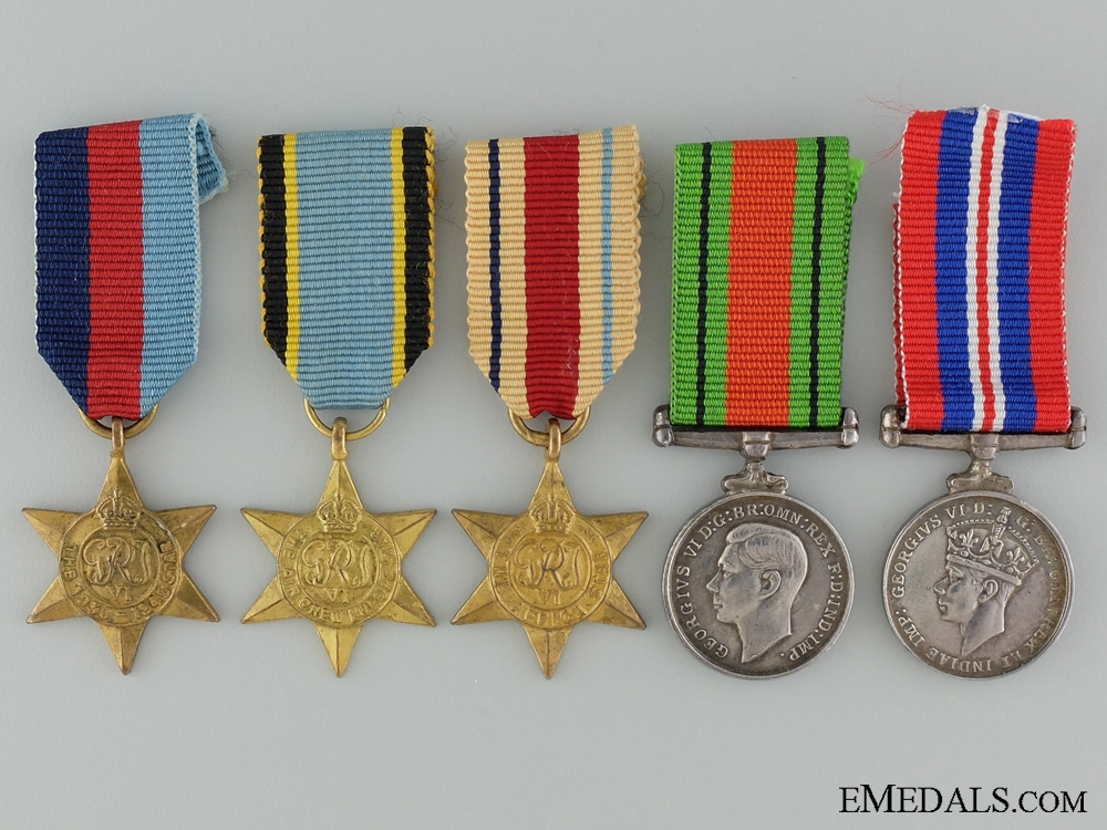 eMedals-A Second War WWII Miniature Group of Five