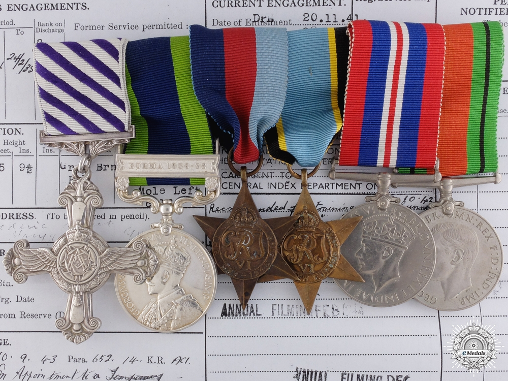 eMedals-A Second World War D.F.C. Group Awarded to No. 50 Squadron in 1943-44