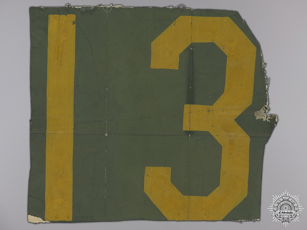 eMedals-A Section of Identification Numbers from an RCAF Hurricane