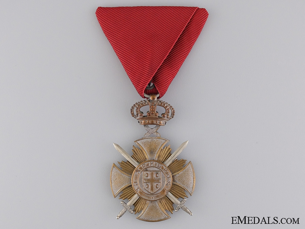 eMedals-A Serbian Military Order of Kara-George; Silver Grade