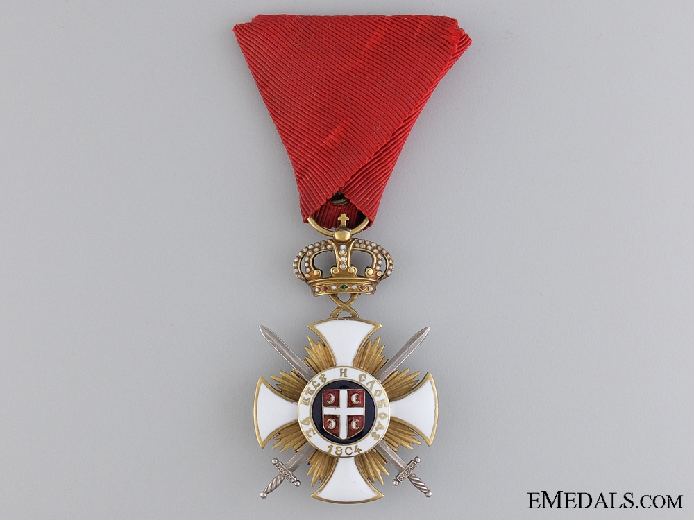 eMedals-A Serbian Order of Kara-George with Swords; 4th Class