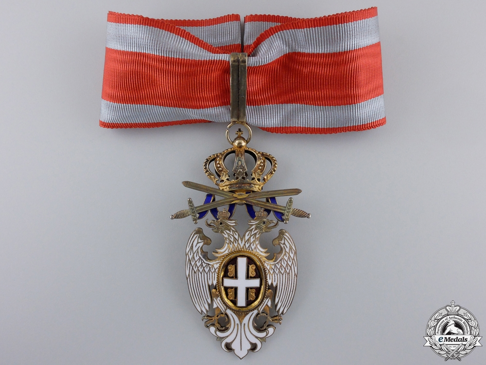 eMedals-A Serbian Order of the White Eagle by A. Bertrand; Commander