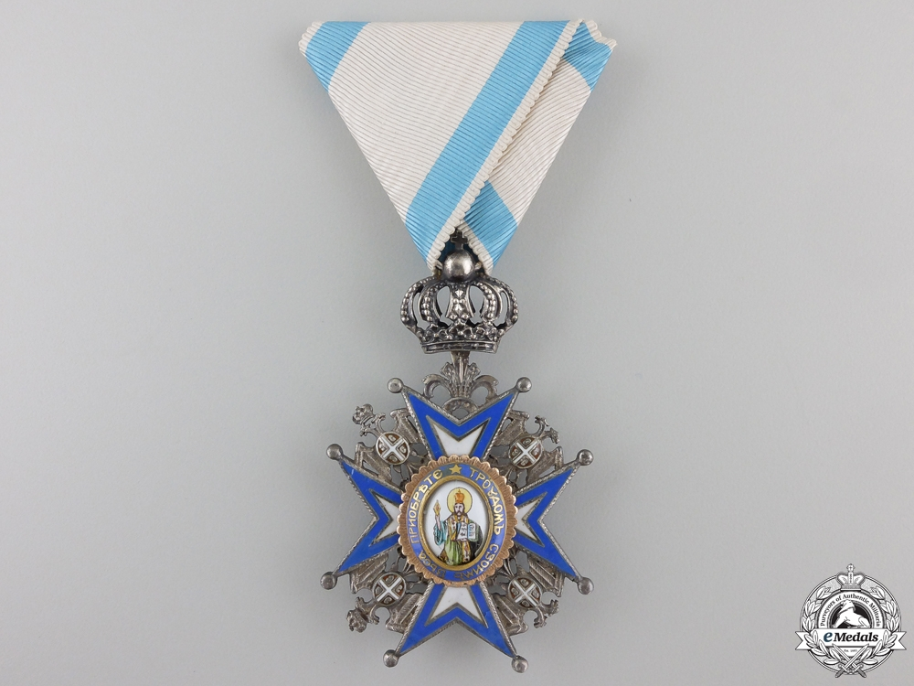 eMedals-A Serbian Order of St. Sava; 5th Class Knight