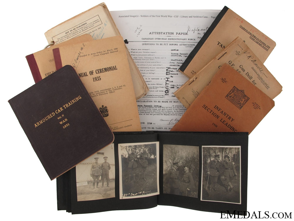 eMedals-A Set of Documents to a Canadian Military Cross Recipient
