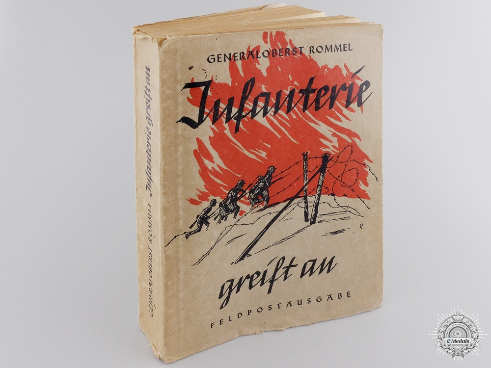 eMedals-A Signed 1942 Edition of Erwin Rommel's Infanterie greift an