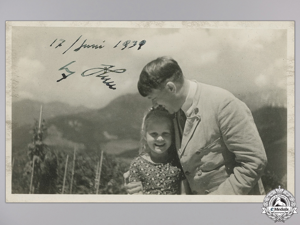 eMedals-A Signed and Dated AH Signed Picture Post Card; June 17th 1939