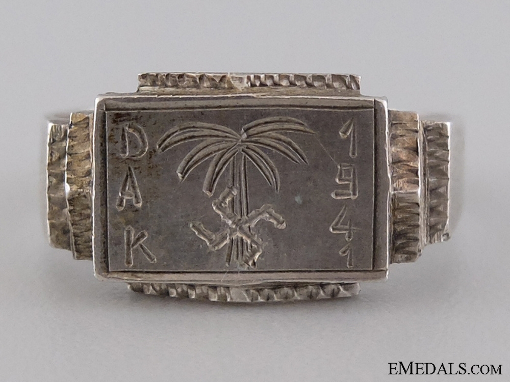 eMedals-A Silver Afrikakorps Ring; 900 Marked
