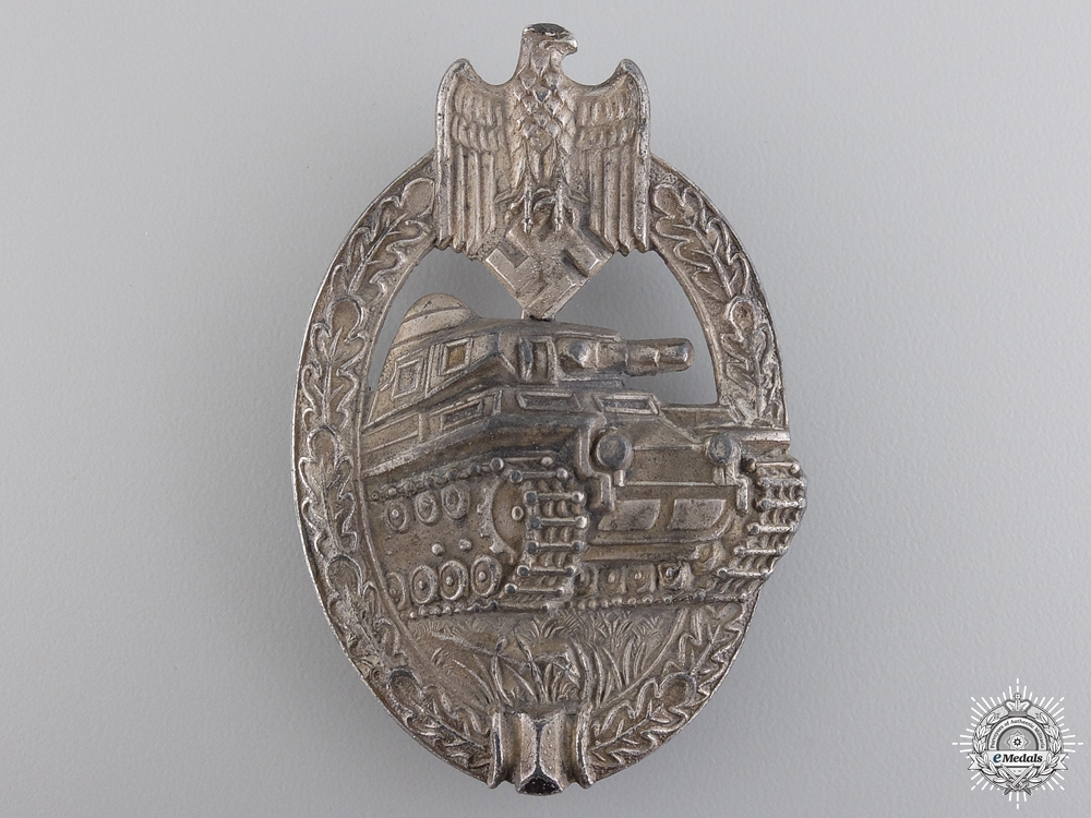 eMedals-A Silver Grade Tank Badge by Adolf Scholze