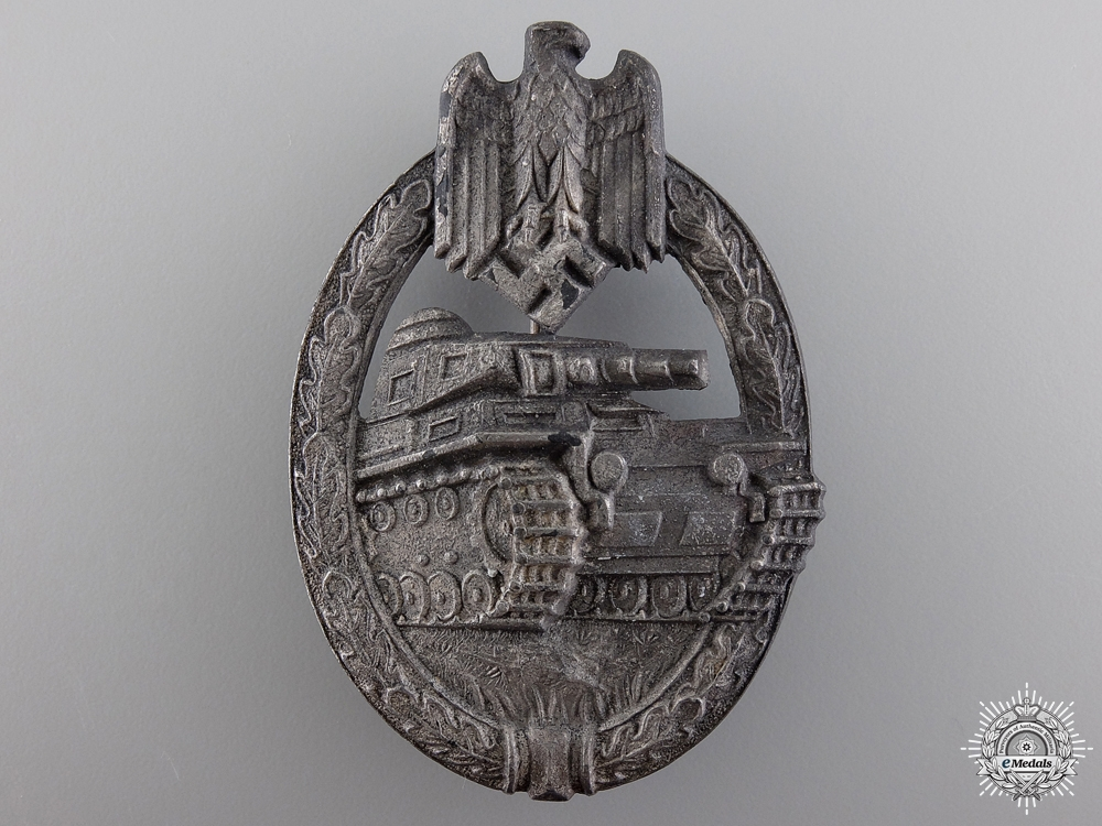 eMedals-A Silver Grade Tank Badge by Aurich