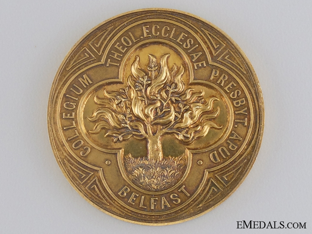 eMedals-A Solid Gold 1902-03 Smiley Medal for Oratory; Belfast