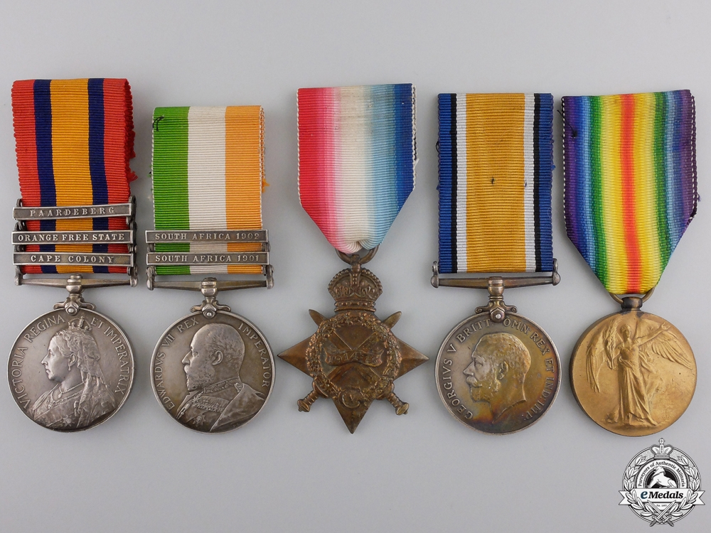 eMedals-A South Africa & First War Group to the 1st Canadian Infantry