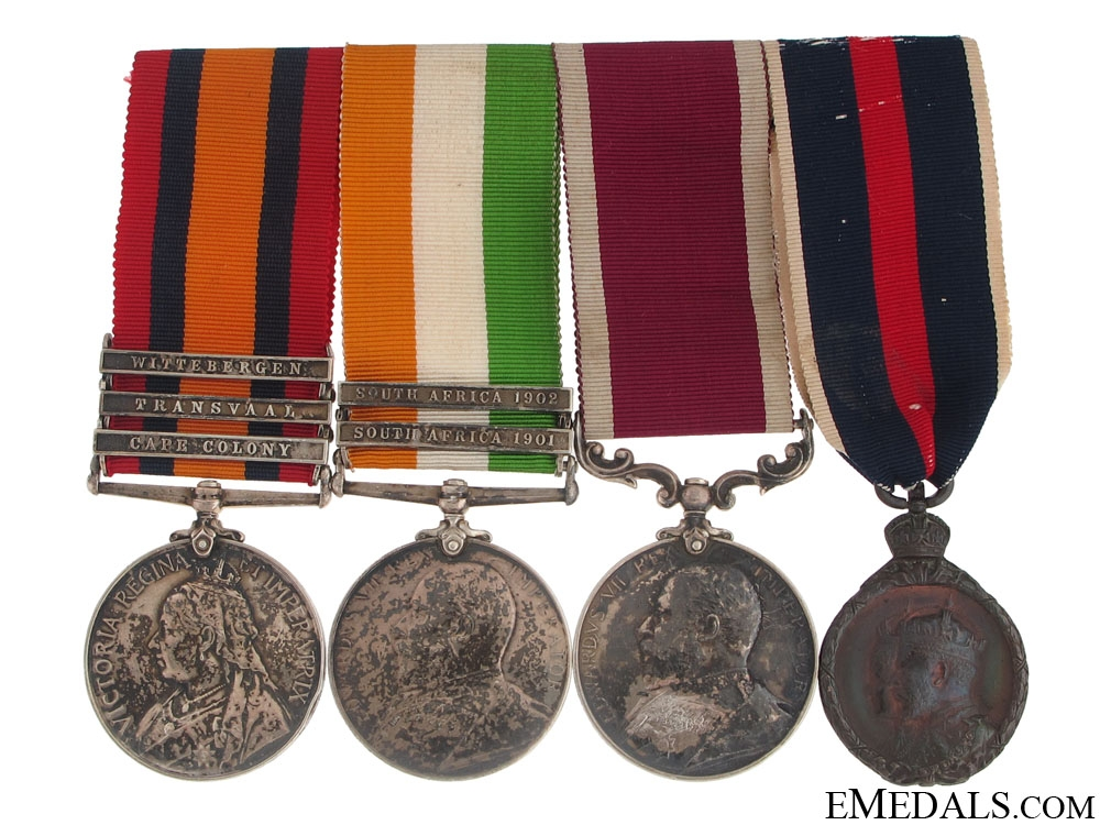 eMedals-A South Africa War Group of Four