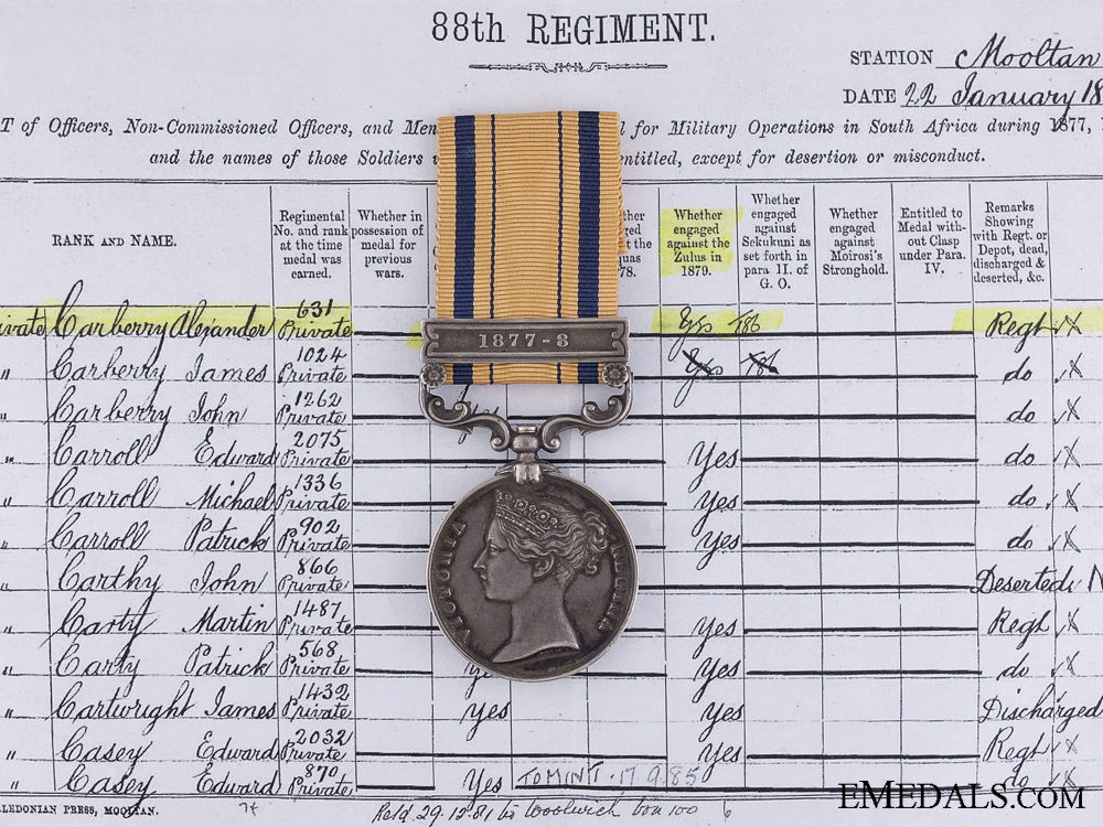 eMedals-A South African Medal to the Connaught Rangers