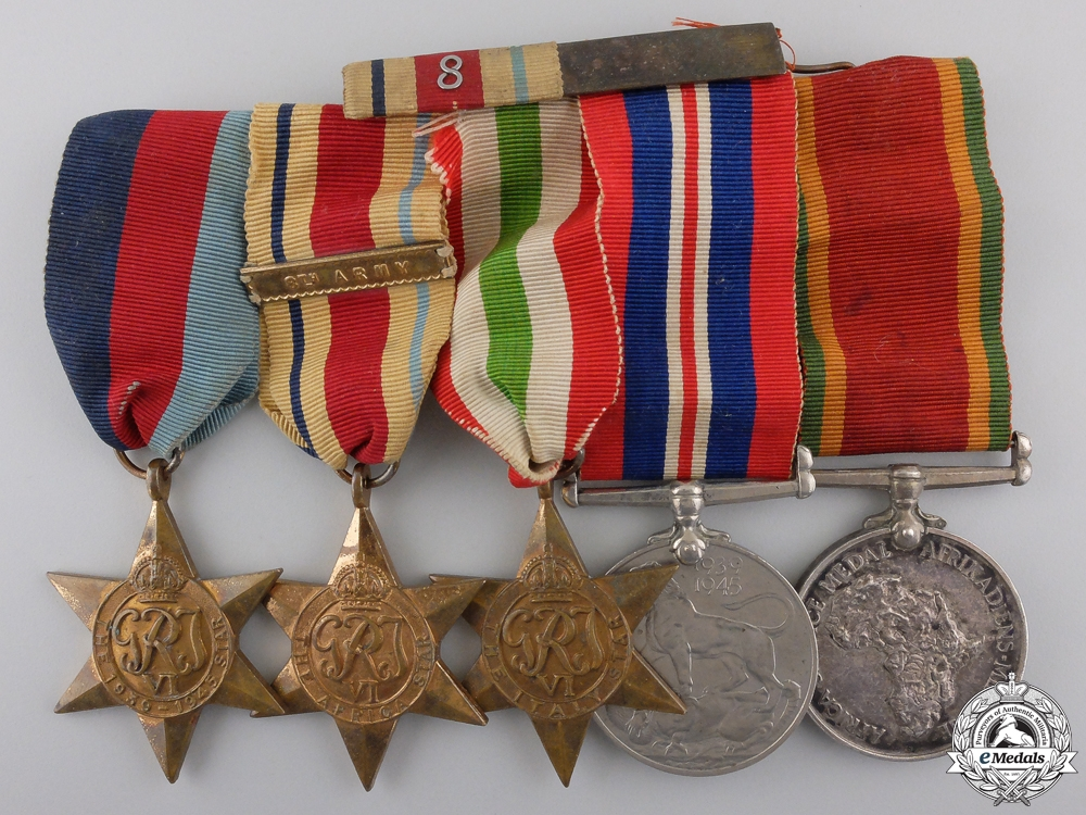 eMedals-A South African El Alamein and Monte Cassino Medal Group Consignment #36