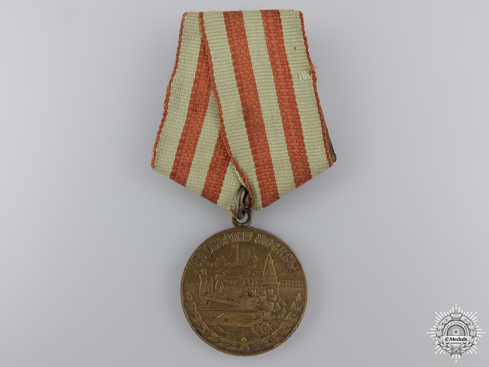 eMedals-A Soviet Defence of Moscow Medal; Variation 1