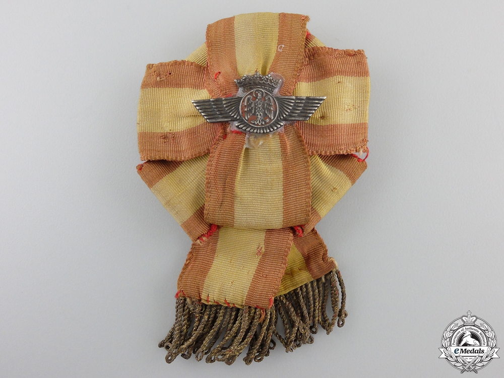 eMedals-A Spanish Air Force Instructor Badge; c. 1940