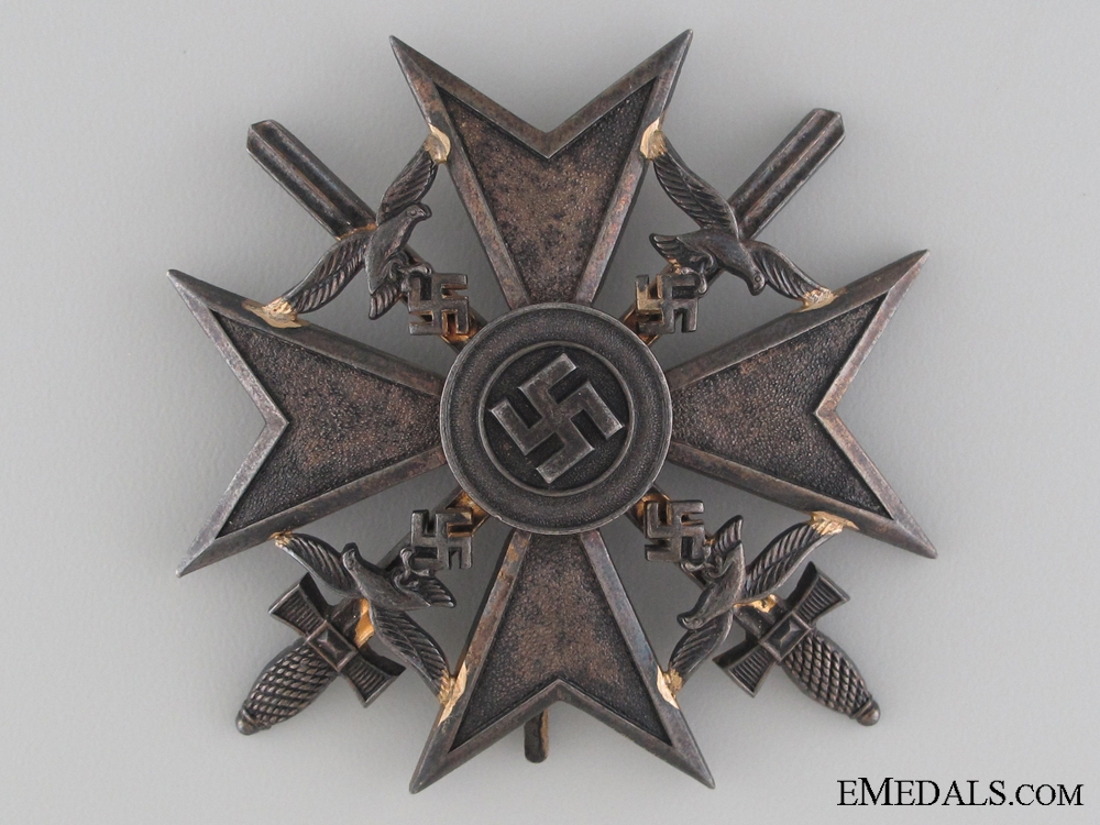 eMedals-A Spanish Cross in Bronze with Swords