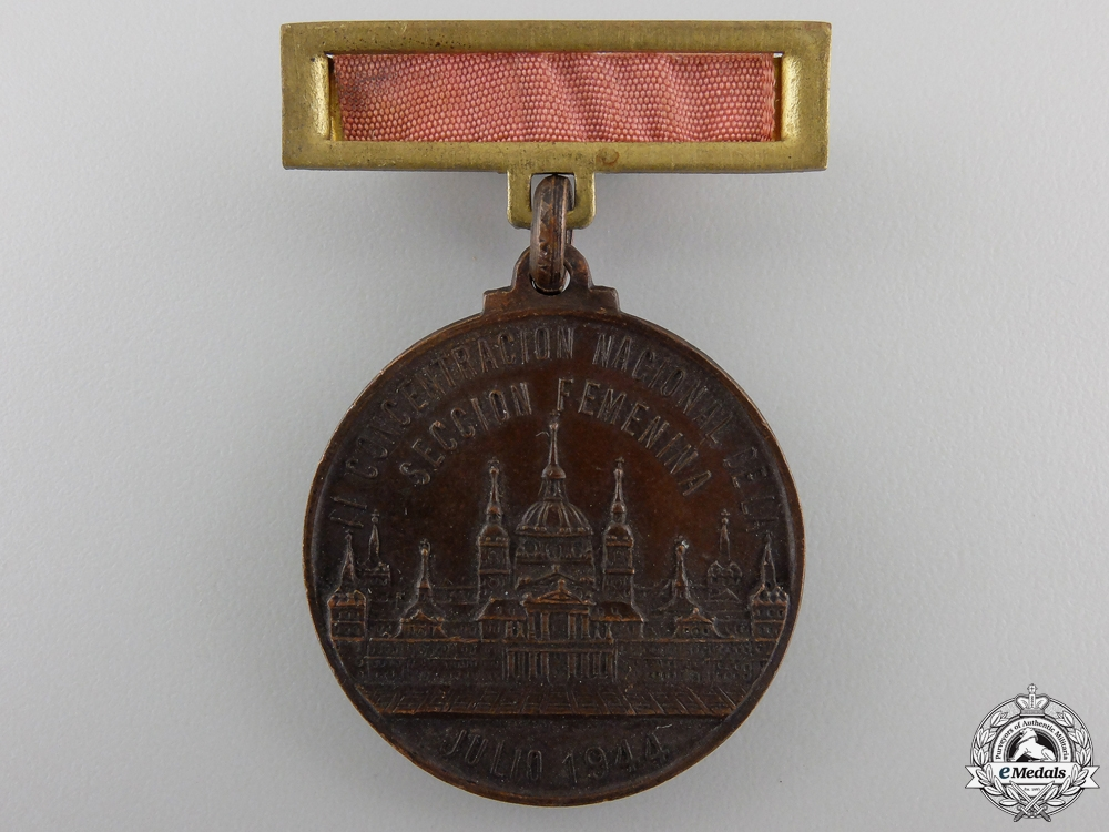 eMedals-A Spanish Falange Tenth Anniversary of the Women's Division Medal 1934-1944