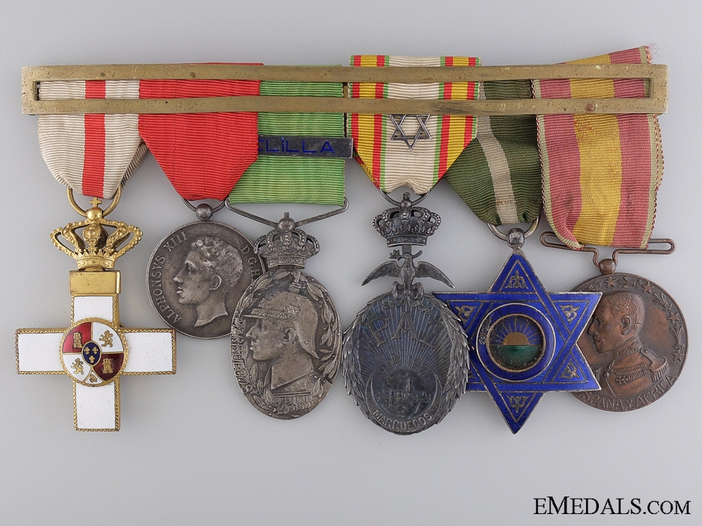 eMedals-A Spanish Officer's Moroccan Campaign Group of Awards