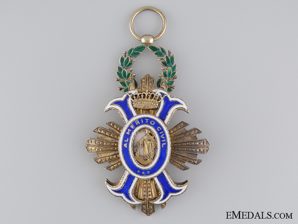 eMedals-A Spanish Order of Civil Merit; Officer's Cross