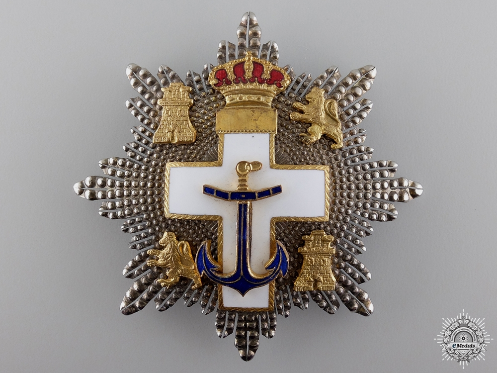 eMedals-A Spanish Order of Naval Merit; Breast Star