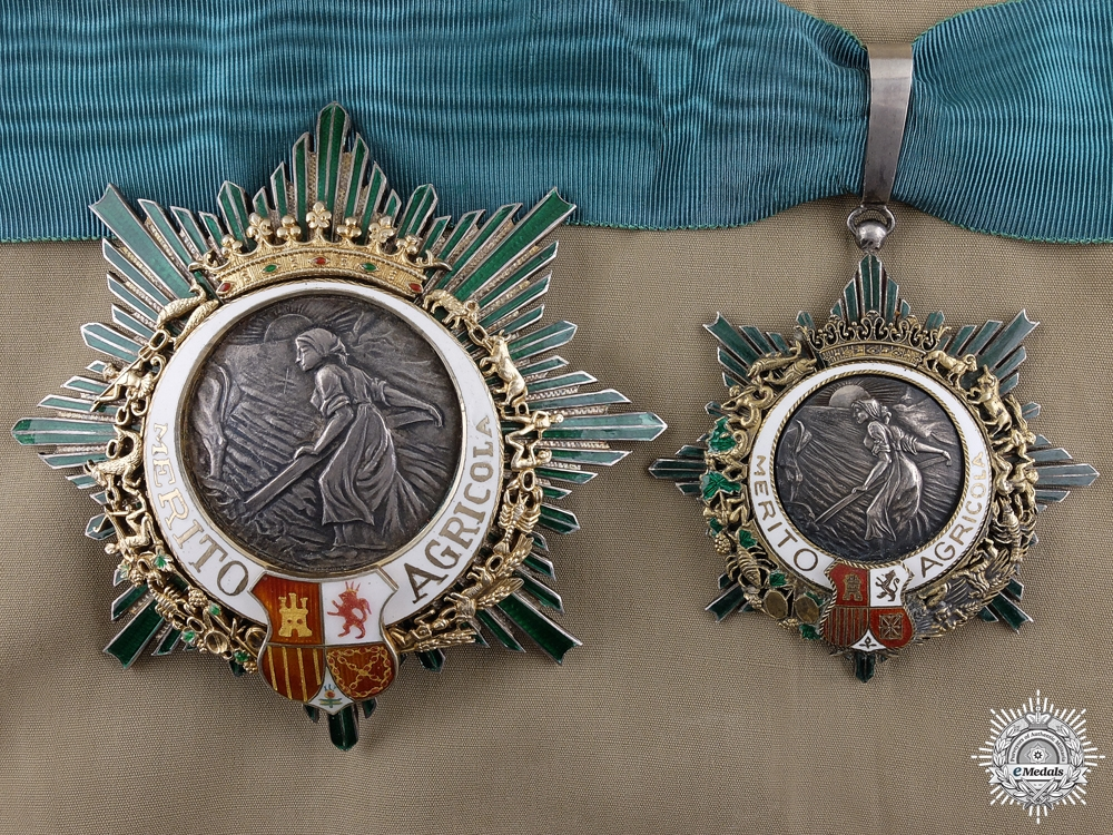 eMedals-A Spanish Order of Agricultural Merit; Breast Star Set