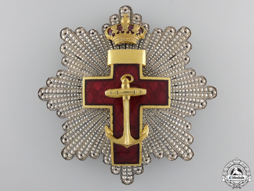 eMedals-A Spanish Order of Naval Merit; 2nd Class Breast Star 1889-1931