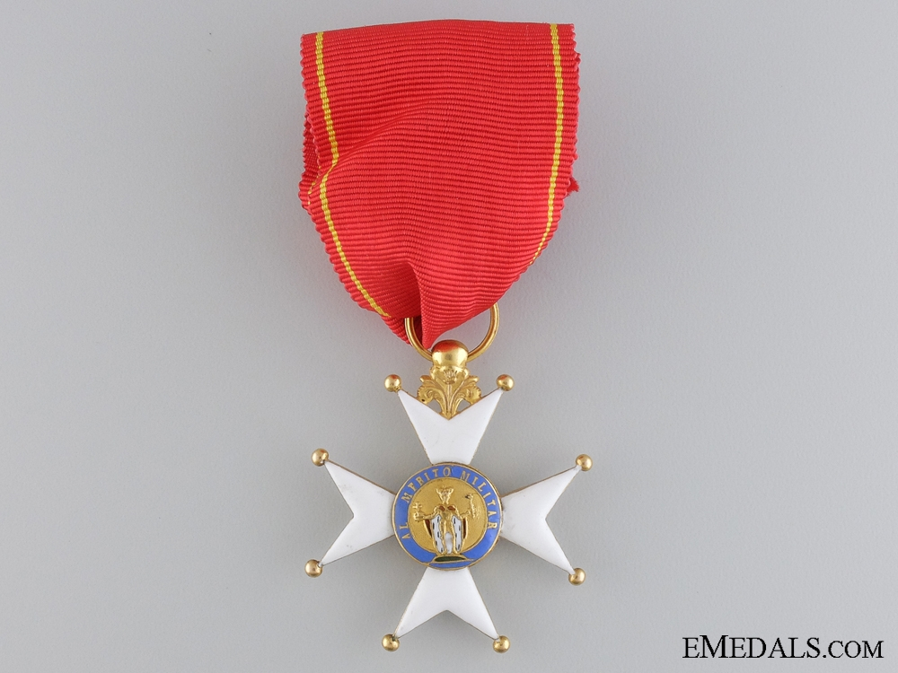eMedals-A Spanish Royal Military Order of Saint Ferdinand in Gold 1830-1840