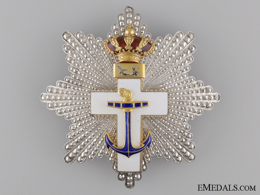 eMedals-A Spansih Order of Naval Merit with White Distinction; Grand Cross Star c.1920